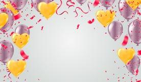 Ein 2019 guten Rutsch ins Neue Jahr-Hintergrund spielt buntes alles- Gute zum Geburtstagbac die Hauptrolle stock abbildung