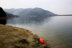 Ein guter Ort zur Schwimmen des offenen Wassers nahe Shanghai Stockbild
