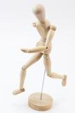 Ein hölzerner Mannequinbetrieb Stockfotos