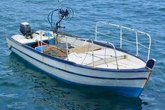 Ein hölzernes Boot stockbilder