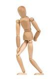 Ein hölzernes Mannequin gestikulieren Stockfoto