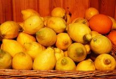 Ein Hügel von Zitronen Lizenzfreie Stockfotos