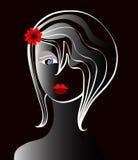 Ein Haarschnitt der jungen Dame Stockbild
