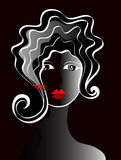 Ein Haarschnitt der jungen Dame Lizenzfreie Stockfotografie
