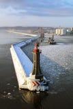 Ein Hafen in Gdynia stockbild