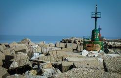 Ein Hafen von Ruinen Stockbild