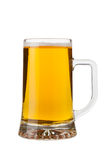 Ein halbes Liter Bier Stockfotos