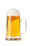 Ein halbes Liter Bier stockbilder