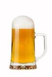 Ein halbes Liter schäumendes Bier Stockfotos