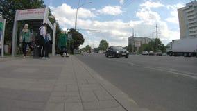 Ein Halt Russland, Krasnodar der öffentlichen Transportmittel, am 26. September 2018 stock footage