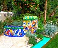 Ein Handwerkergarten bei Chelsea Flower Show Stockbilder