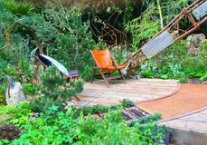 Ein Handwerkergarten bei Chelsea Flower Show Lizenzfreies Stockbild