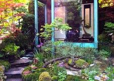 Ein Handwerkergarten an der rechten Seite Chelsea Flower Show Stockfoto