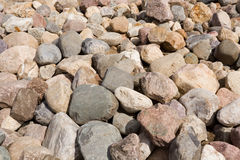 Ein Haufen der Steine. Stockfoto