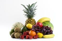 Ein Haufen der tropischen Früchte Lizenzfreies Stockbild