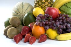 Ein Haufen der tropischen Früchte Stockfotografie