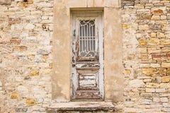 Ein Haupteingang eines Hauses mit einer Tür Lizenzfreies Stockbild