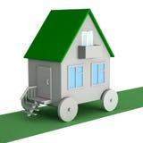 Ein Haus auf Rädern stock abbildung