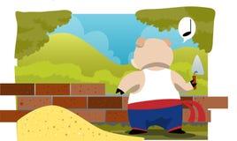 Ein Haus aufzubauen ist nicht für ein Schwein einfach lizenzfreie abbildung
