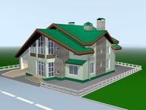 Ein Haus für Familie von ist zwei storeyed. Stockbilder