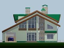 Ein Haus für Familie von ist zwei-storeyed. Stockbild