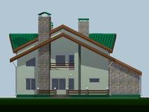 Ein Haus für Familie von ist zwei-storeyed. Lizenzfreies Stockbild