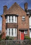 Ein Haus in London mit roten Türen Stockbild