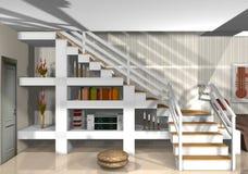 Ein Haus voll der Möbel und ein dekorativ Stockfotografie