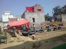 Ein Haus von Indien stockfoto