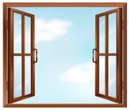 Ein Hausfenster Stockbild