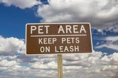 Ein Haustierbereichszeichen Lizenzfreie Stockfotografie