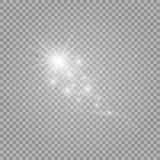 Ein heller Komet mit Fallender Stern Lichteffekt des Glühens Auch im corel abgehobenen Betrag lizenzfreie abbildung