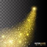 Ein heller Komet mit großem Staub vektor abbildung