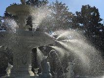 Ein helles und wässriges Bild von Forsyth-Park in der Savanne, Georgia Lizenzfreies Stockbild