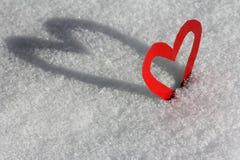 Ein Herz mit Schatten Stockbild