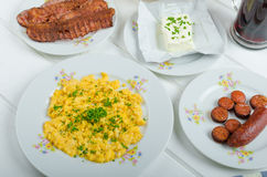 Ein herzliches Frühstück Stockbilder