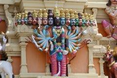 Ein hindischer Lord mit Kopf 18 von Balaji-Tempel Stockbild