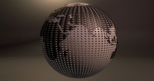 Ein Hintergrund der Planet Erde, die wie ein Ball des Golfs aussieht, das die Europa- und Asien-Kontinente zeigt stock abbildung