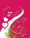 Ein Hintergrund für Valentinstag lizenzfreie abbildung