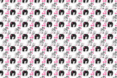 Ein Hintergrund ist in den schwarz-rosafarbenen Tönen Stockbild