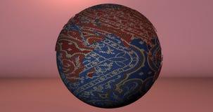 Ein Hintergrund mit dem Erdplaneten gemacht von der Gewebekleidung, der die Europa- und Asien-Kontinente zeigt vektor abbildung