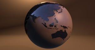 Ein Hintergrund mit dem Erdplaneten machte von einer hölzernen Beschaffenheit, die Australien- und Asien-Kontinente zeigt stock abbildung