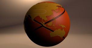 Ein Hintergrund mit der Planet Erde, die wie ein Basketball aussieht, der Australien- und Asien-Kontinente zeigt vektor abbildung