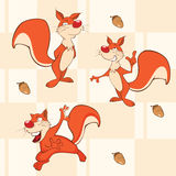 Ein Hintergrund mit nahtlosem Muster der Eichhörnchen lizenzfreie abbildung