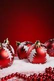 Ein Hintergrund von Weihnachten spielt Aufbau Stockbild