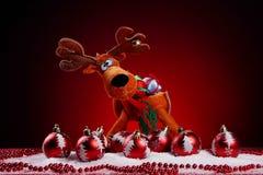 Ein Hintergrund von Weihnachten spielt Aufbau Lizenzfreies Stockfoto