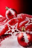 Ein Hintergrund von Weihnachten spielt Aufbau Stockfotografie