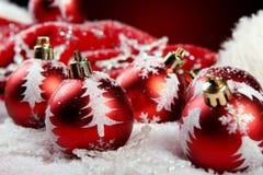 Ein Hintergrund von Weihnachten spielt Aufbau Lizenzfreie Stockbilder