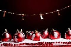 Ein Hintergrund von Weihnachten spielt Aufbau Lizenzfreie Stockfotos