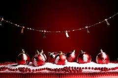 Ein Hintergrund von Weihnachten spielt Aufbau Stockfotos